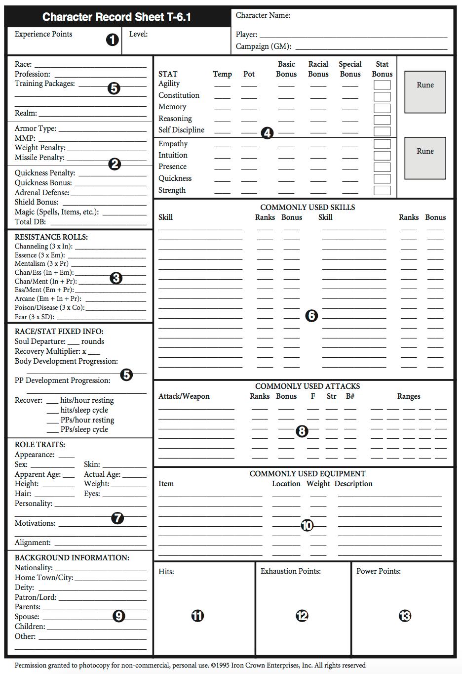 Rolemaster Standard System
